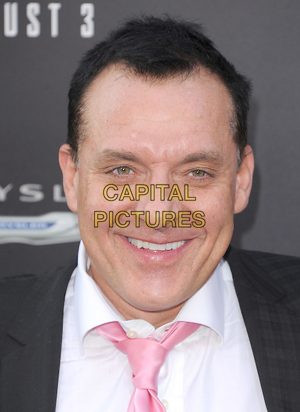 Tom Sizemore.Premiere of 'Total Recall' held at The Grauman's Chinese Theatre in Hollywood, California, USA..August 1st, 2012.headshot portrait black white shirt pink tie.CAP/RKE/DVS.©DVS/RockinExposures/Capital Pictures.
