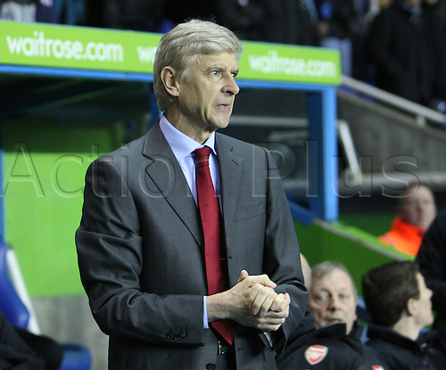 17.12.2012. Reading, England. ..Arsene Wenger Manager of Arsenal..in action during  off  the Premier League match between Reading and Arsenal from Madejski Stadium