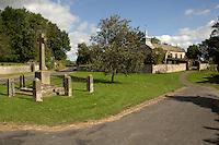 St Aidans church Gillamoor and memorial Kirkbymoorside, North Yorkshire, England. Sep 2007.