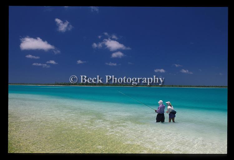 Fly fishing on Christmas Island