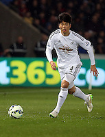 SWANSEA, WALES - MARCH 16: Ki Sung Yueng of Swansea<br />