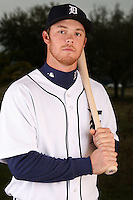 February 27, 2010:  Outfielder Brennan Boesch (26) of the Detroit Tigers poses for a photo during media day at Joker Marchant Stadium in Lakeland, FL.  Photo By Mike Janes/Four Seam Images