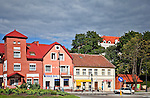Ryn, kamieniczki w centrum miasta