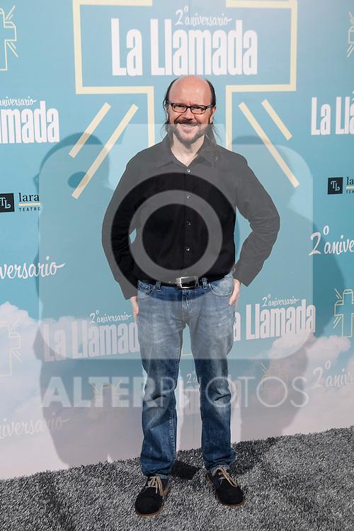 Santiago Segura attends La Llamada theater play in Madrid, Spain. April 15, 2015. (ALTERPHOTOS/Victor Blanco)
