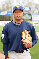 April 11 2010: Kelvin Herrera of the Burlington Bees. The Bees are the Low A affiliate of the Kansas City Royals. Photo by: Chris Proctor/Four Seam Images