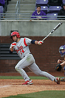 Stony Brook Seawolves outfielder Sal Intagliata #14 at bat during a game against the East Carolina University Pirates at Clark-LeClair Stadium  on March 4, 2012 in Greenville, NC.  East Carolina defeated Stony Brook 4-3. (Robert Gurganus/Four Seam Images)