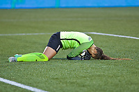 Portland, OR - Saturday June 17, 2017: Kailen Sheridan during a regular season National Women's Soccer League (NWSL) match between the Portland Thorns FC and Sky Blue FC at Providence Park.