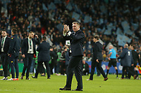 Aston Villa's Head Coach Dean Smith at the end of the game.  Aston Villa vs Manchester City, Caraboa Cup Final Football at Wembley Stadium on 1st March 2020