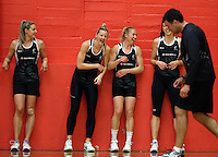 13.09.2016 Silver Ferns in action during training ahead of their second netball match tomorrow night between the Silver Ferns and Jamaica in Palmerston North. Mandatory Photo Credit ©Michael Bradley.