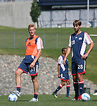 17 June 2007: New England's Anders Kelto (31) and Chris Loftus (28). The New England Revolution Reserves defeated the Columbus Crew Reserves 2-1 on the Gillette Stadium practice field in Foxboro, Massachusetts in a Major League Soccer Reserve Division game.