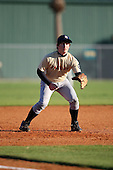 December 28, 2009:  Patrick McGee (5) of the Baseball Factory Seminoles team during the Pirate City Baseball Camp & Tournament at Pirate City in Bradenton, Florida.  (Copyright Mike Janes Photography)