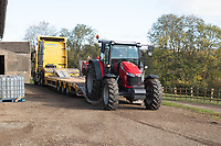 New tractor being delivered <br /> &copy;Tim Scrivener Photographer 07850 303986<br />      ....Covering Agriculture In The UK....