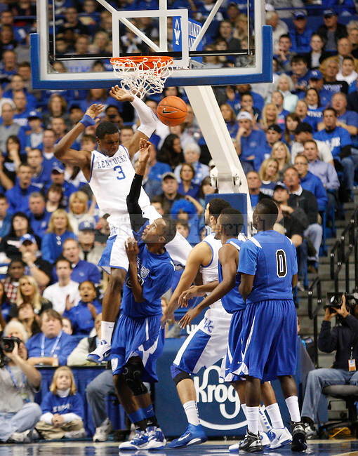 Terrence Jones dunked on a Dillard University player at Rupp Arena on November 5, 2010.  Photo by Latara Appleby | Staff