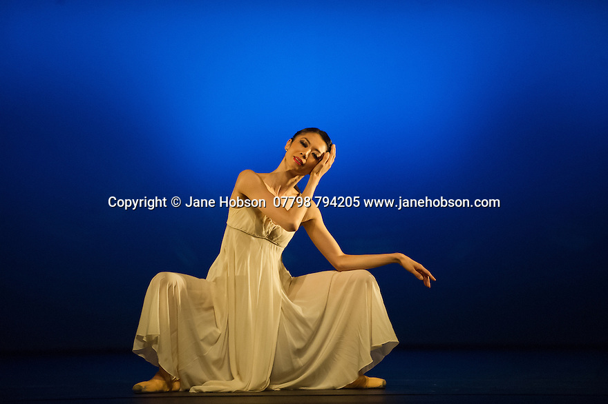 """London, UK. 19.05.2014. English National Ballet presents the final of EMERGING DANCER 2014, at the Lyceum Theatre in London's West End. Picture shows: Senri Kou in """"Nocturnes"""". Photograph © Jane Hobson."""