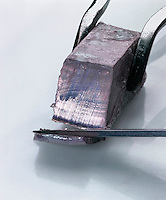 SODIUM METAL CUT WITH KNIFE<br />