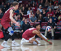 STANFORD, CA - March 2, 2019: Jaylen Jasper at Maples Pavilion. The Stanford Cardinal defeated BYU 25-20, 25-20, 22-25, 25-21.