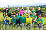Bridget Richardson Beaufort with her sheep dressed in the Green and Gold  for the All Ireland final on Sunday Front row l-rL Melissa Foley, Angela Doona, Holly Richardson, Donal Doona Ganselo Doona. Back row: Helen Foley, Mary Healy, Michael Foley, Noreen, Katie, Shane and Javier Doona