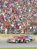 A.J. Foyt 14 Richard Petty 43 action Daytona 500 at Daytona International Speedway in Daytona Beach, FL in February 1986. (Photo by Brian Cleary/www.bcpix.com) Daytona 500, Daytona International Speedway, Daytona Beach, FL, February 16, 1986.  (Photo by Brian Cleary/www.bcpix.com)