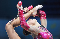 August 29, 2013 - Kiev, Ukraine - Annabelle Kovacs of Canada performs at 2013 World Championships.