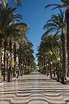Explanada de España promenade, Alicante, Spain
