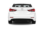 Straight rear view of 2016 Hyundai Elantra Value Edition 4 Door Sedan Rear View  stock images