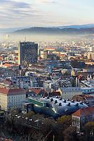 Blick vom Schlossberg, Graz, Steiermark, Österreich<br /> View from Schlossberg, Graz, Styria, Austria Blick vom Schlossberg, Graz, Steiermark, Österreich, , UNESCO-Weltkulturerbe<br /> View from Schlossberg, Graz, Styria, Austria, heritage site