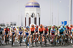 The start of Stage 6 of the 10th Tour of Oman 2019, running 135.5km from Al Mouj Muscat to Matrah Corniche, Oman. 21st February 2019.<br /> Picture: ASO/P. Ballet | Cyclefile<br /> All photos usage must carry mandatory copyright credit (&copy; Cyclefile | ASO/P. Ballet)