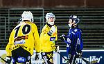 Uppsala 2014-10-30 Bandy Elitserien IK Sirius - Broberg S&ouml;derhamn :  <br /> Broberg S&ouml;derhamns Martin S&ouml;derberg firar sitt 0-2 m&aring;l <br /> (Foto: Kenta J&ouml;nsson) Nyckelord:  Bandy Elitserien Uppsala Studenternas IP IK Sirius IKS Broberg S&ouml;derhamn jubel gl&auml;dje lycka glad happy