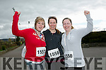 Leanne Lyons, Cecilia Lyons and Majella Quinn at the Kingdom Come 10 miler and 5k race at Castleisland on Sunday