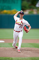Springfield Cardinals starting pitcher Chris Ellis (23) delivers a pitch during a game against the San Antonio Missions on June 4, 2017 at Hammons Field in Springfield, Missouri.  San Antonio defeated Springfield 6-1.  (Mike Janes/Four Seam Images)