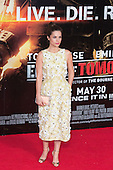 """Actress Charlotte Riley. First World Premiere of the new Tom Cruise and Emily Blunt movie """"Edge of Tomorrow"""" at the BFI IMAX cinema in London, United Kingdom. As the film is about reliving the events of one day over and over in an epic battle to save the world, the stars of """"Edge of Tomorrow"""" take part in a worldwide event when, for the first time ever, three fan premieres will be held in three different countries in just one day."""
