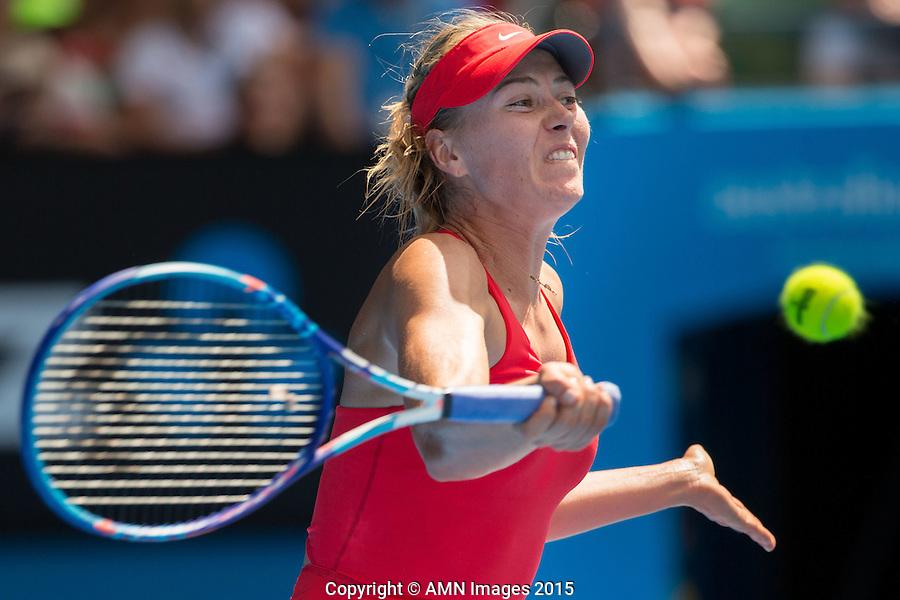 Maria Sharapova (RUS)<br /> <br /> Tennis - Australian Open 2015 - Grand Slam -  Melbourne Park - Melbourne - Victoria - Australia  - 21 January 2015. <br /> &copy; AMN IMAGES