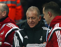 Swansea City caretaker manager Alan Curtis during the Barclays Premier League match between Manchester City and Swansea City played at the Etihad Stadium, Manchester on December 12th 2015