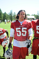 Jul 30, 2008; Flagstaff, AZ, USA; Arizona Cardinals linebacker Travis LaBoy during training camp on the campus of Northern Arizona University. Mandatory Credit: Mark J. Rebilas-
