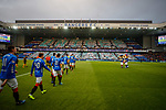 24.11.2018 Rangers v Livingston: Rangers take to the field as they mark the 10th year of  their UNICEF partnership