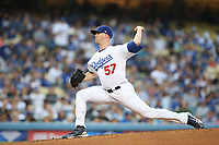 06/23/17 Los Angeles, CA: Los Angeles Dodgers starting pitcher Alex Wood #57 during an MLB game between the Los Angeles Dodgers and the Colorado Rockies played at Dodger Stadium.