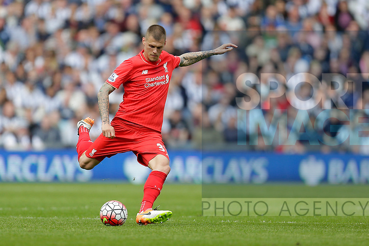 Martin Skrtel of Liverpool in action during the Barclays Premier League match at The Hawthorns.  Photo credit should read: Malcolm Couzens/Sportimage