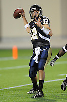 11 October 2008:  FIU quarterback Paul McCall (12) throws in the first half of the FIU 31-21 victory over Middle Tennessee at FIU Stadium in Miami, Florida.