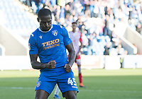 Frank Nouble of Colchester United celebrates his penalty during Colchester United vs Stevenage, Sky Bet EFL League 2 Football at the JobServe Community Stadium on 5th October 2019