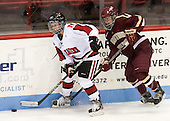 Chelsiea Goll (NU - 20), Haley Skarupa (BC - 22) - The Northeastern University Huskies defeated Boston College Eagles 4-3 to repeat as Beanpot champions on Tuesday, February 12, 2013, at Matthews Arena in Boston, Massachusetts.
