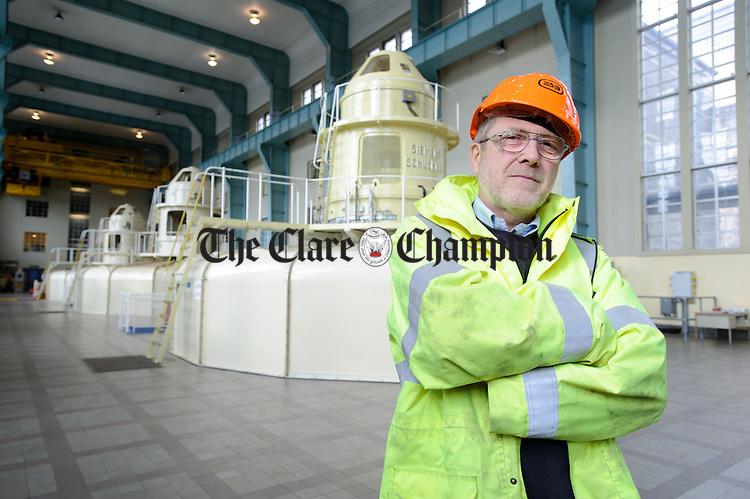 Tom Hayes, Civil Engineering manager at Ardnacrusha Generating Station. Photograph by John Kelly.