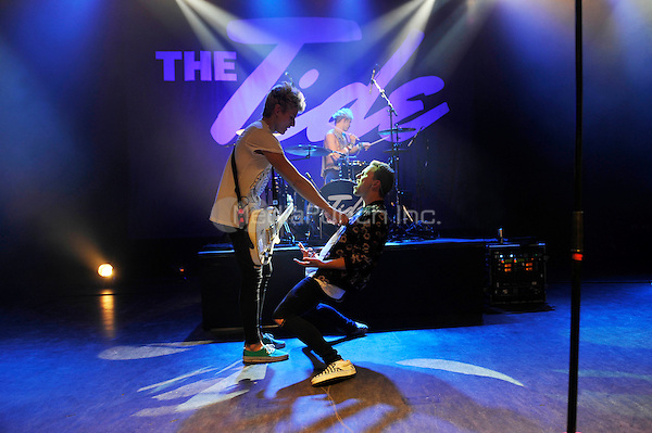 LONDON, ENGLAND - SEPTEMBER 1: Drew Dirksen, Austin Corini and Nate Parker of 'The Tide' performing at Shepherd's Bush Empire on September 1, 2016 in London, England.<br /> CAP/MAR<br /> &copy;MAR/Capital Pictures /MediaPunch ***NORTH AND SOUTH AMERICAS ONLY***