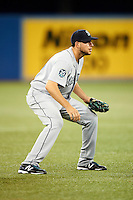 Seattle Mariners third baseman Alex Liddi #16 during an American League game against the Toronto Blue Jays at the Rogers Centre on September 13, 2012 in Toronto, Ontario.  Toronto defeated Seattle 8-3.  (Mike Janes/Four Seam Images)