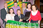 Launching the Donegal  association website in the Killarney Heights Hotel on Saturday night was front row l-r: Patricia Fleming, John Cassidy, Annette Horgan, Geraldine McGarrigle. Back row: Niall Doherty, Cieran Boyle and Sean Gallagher