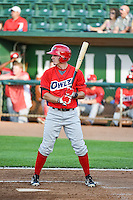 Alex Abbott (10) of the Orem Owlz at bat against the Ogden Raptors in Pioneer League action at Lindquist Field on June 18, 2015 in Ogden, Utah.  This was Opening Night play of the 2015 Pioneer League season.  (Stephen Smith/Four Seam Images)