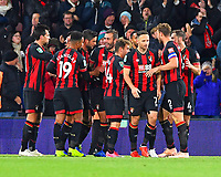 Steve Cook of AFC Bournemouth middle celebrates after scoring to make the score 2-1 during AFC Bournemouth vs Norwich City, Caraboa Cup Football at the Vitality Stadium on 30th October 2018
