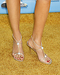 Actress Vanessa Branch 's shoes at the 2008 MTV Movie Awards on June 1, 2008 at the Gibson Amphitheatre in Universal City, California.
