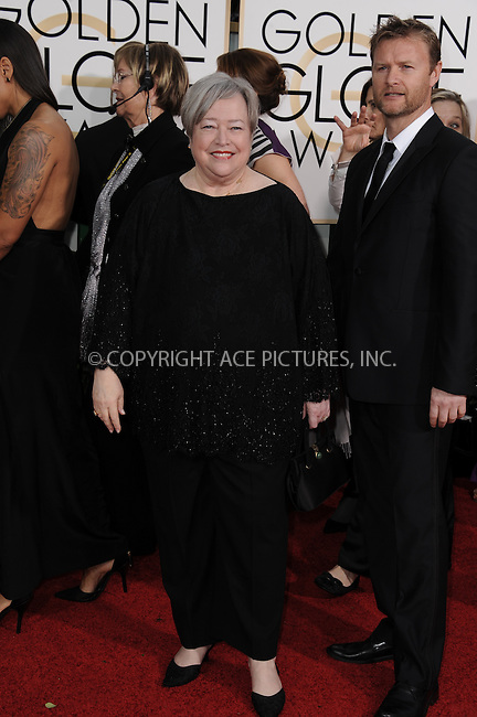 WWW.ACEPIXS.COM<br /> <br /> January 11 2015, LA<br /> <br /> Kathy Bates arriving at the 72nd Annual Golden Globe Awards at The Beverly Hilton Hotel on January 11, 2015 in Beverly Hills, California.<br /> <br /> <br /> By Line: Peter West/ACE Pictures<br /> <br /> <br /> ACE Pictures, Inc.<br /> tel: 646 769 0430<br /> Email: info@acepixs.com<br /> www.acepixs.com