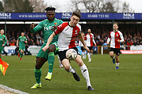 Isaac Success of Watford and Jack Cook of Woking during Woking vs Watford, Emirates FA Cup Football at The Laithwaite Community Stadium on 6th January 2019
