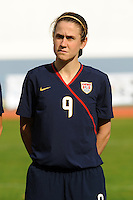 Heather O'Reilly. The USWNT defeated Iceland (2-0) at Vila Real Sto. Antonio in their opener of the 2010 Algarve Cup on February 24, 2010.